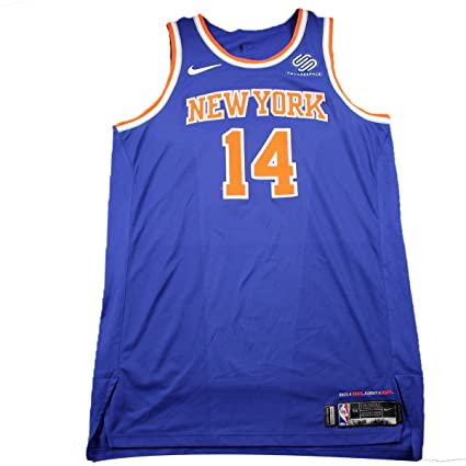 timeless design c95a6 83a30 Willy Hernangomez New York Knicks Game Used #14 Blue Jersey ...