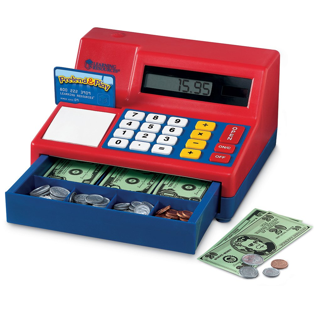 Learning Resources Pretend & Play Calculator Cash Register, 73 Pieces by Learning Resources (Image #1)