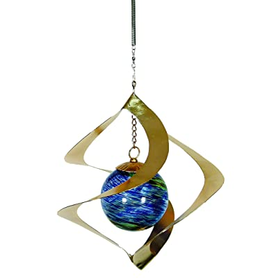 Echo Valley 4247W Illuminarie Hanging Spiral Spinner, 9 by 9 by 10-Inch : Wind Spinners : Garden & Outdoor