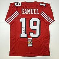 $134 » Autographed/Signed Deebo Samuel San Francisco Red Alternate Football Jersey JSA COA