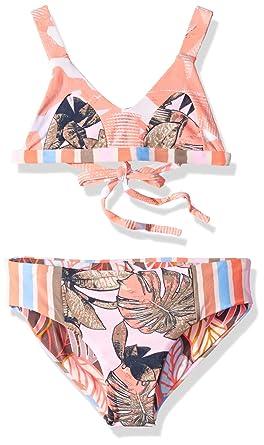 eb22b23cc77 Maaji Little Girls' Fixed Triangle with Adjustable Tie Back Bikini Swimsuit  Set, Cumbuco Praia
