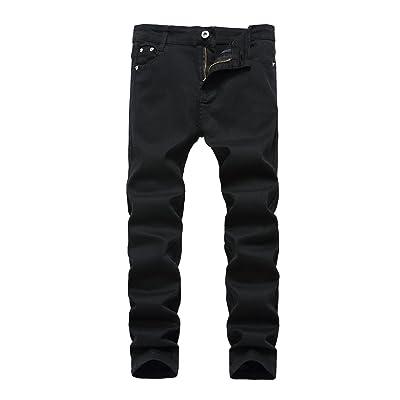 Boy's Skinny Fit Stretch Jeans Kids Fashion Pants Black W14
