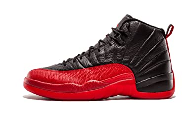 best sneakers 99a45 f0f33 Image Unavailable. Image not available for. Color  Jordan 130690-002 Men AIR  12 Retro Black Varsity RED