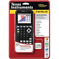 Texas Instruments TI-84 Plus CE Graphing Calculator, Black (Renewed)