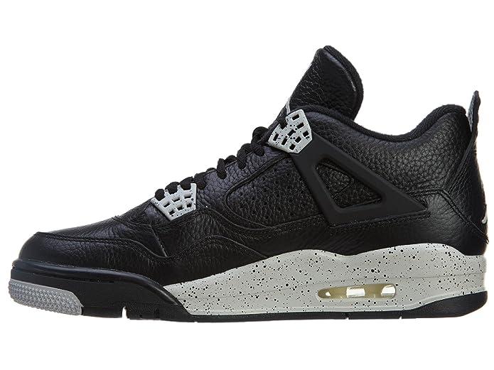 100% authentic efbc8 e058d Amazon.com   Jordan Mens Retro 4 LS Black Black Tech Grey 314254-003 15    Basketball