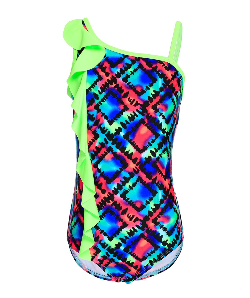 BELLOO Girls One Piece Swimsuits One Shoulder Bathing Suits for 4-14 Years