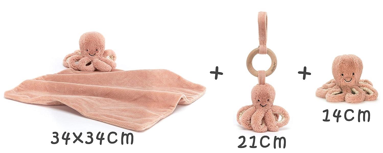 Doudou poulpe pieuvre personnalis/é au pr/énom de b/éb/é fille gar/çon