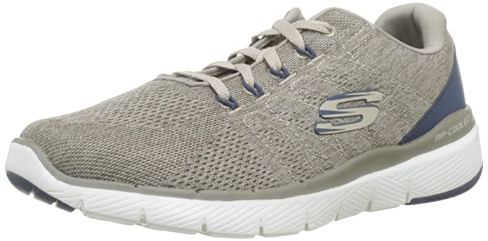 Skechers Flex Advantage 3.0-Stally Sneakers Herren Beige (Taupe/Blue)
