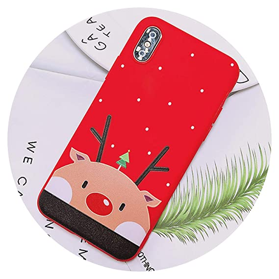 681c2fbc2f6dc3 Image Unavailable. Image not available for. Color  Merry Christmas Tree  Santa Claus Gift Happy New Year Phone Case Cartoon Silicone ...