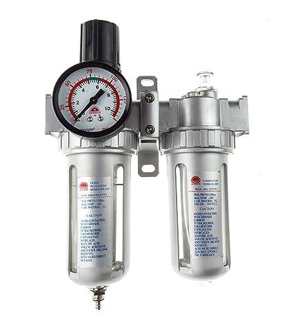 Unidad de mantenimiento de aire comprimido Separador de agua + regulador de presión + manómetro +