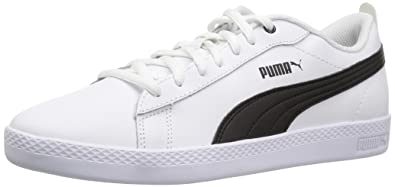 ab37692f03cc PUMA Women s Smash WNS v2 Leather Sneaker White Black
