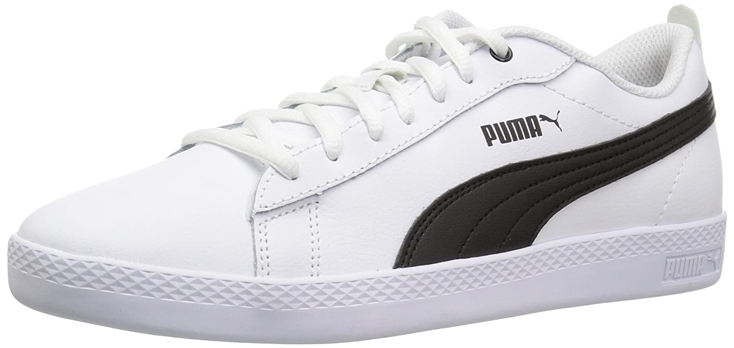 PUMA Women's Smash WNS V2 Leather Sneaker B071K7RNHN 7 B(M) US|Puma White-puma Black