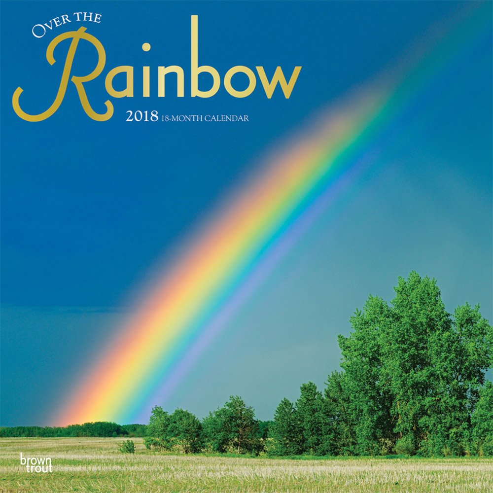 Over the Rainbow 2018 12 x 12 Inch Monthly Square Wall Calendar with Foil Stamped Cover, Scenic Science Nature (Multilingual Edition)