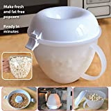 Microwave Popcorn Maker Machine Serving Bowl Pop Corn Cooker Fat Free No Oil