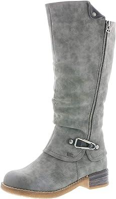 RIEKER NEWA FILZ SCHUHE Damen Winter Boots gefüttert Stiefel