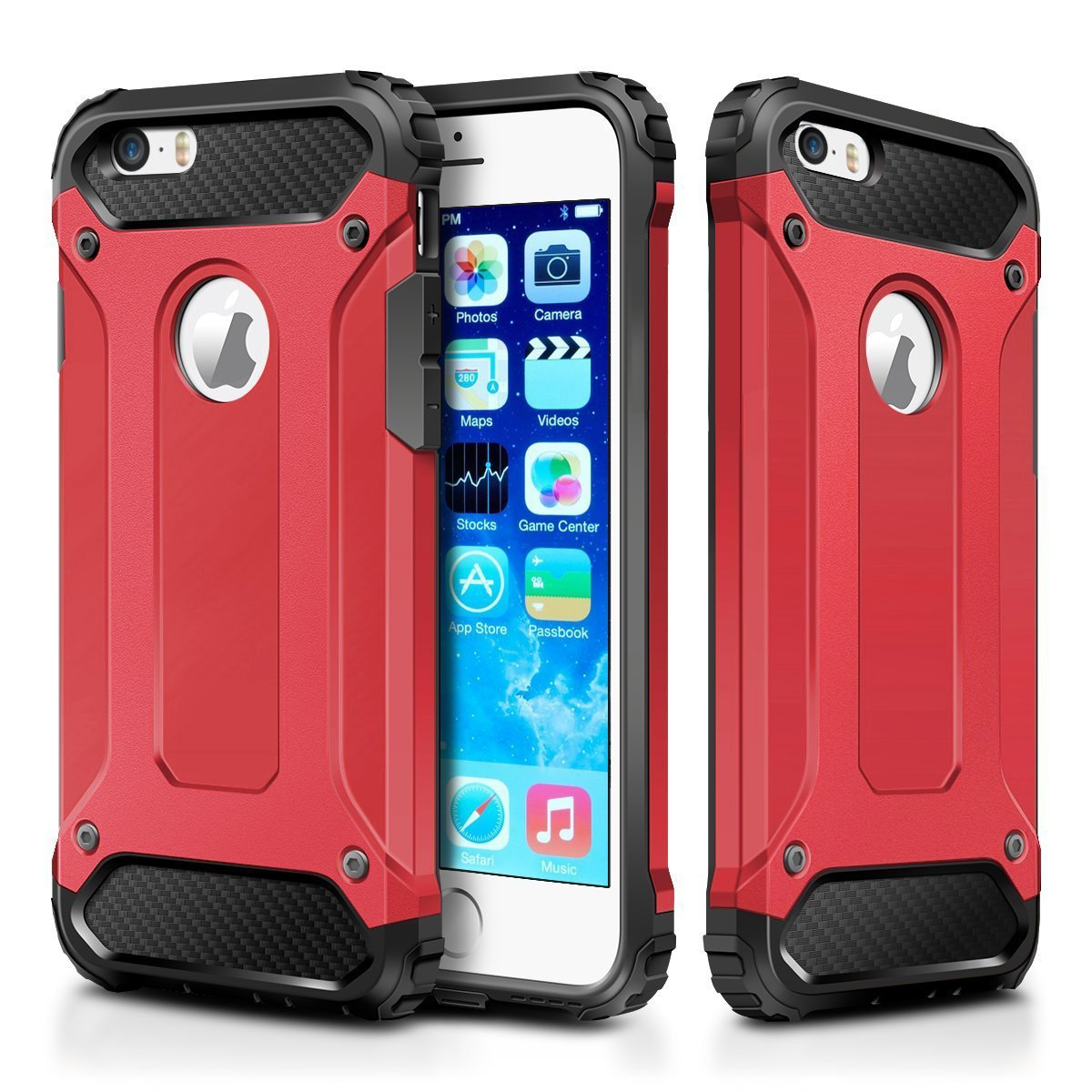 Amazon.com: IPhone 5S Case,iPhone SE Case,Wollony Rugged Hybrid Dual Layer  Armor Protective Back Case Shockproof Cover For IPhone SE/5/5S   Heavy Duty  ...
