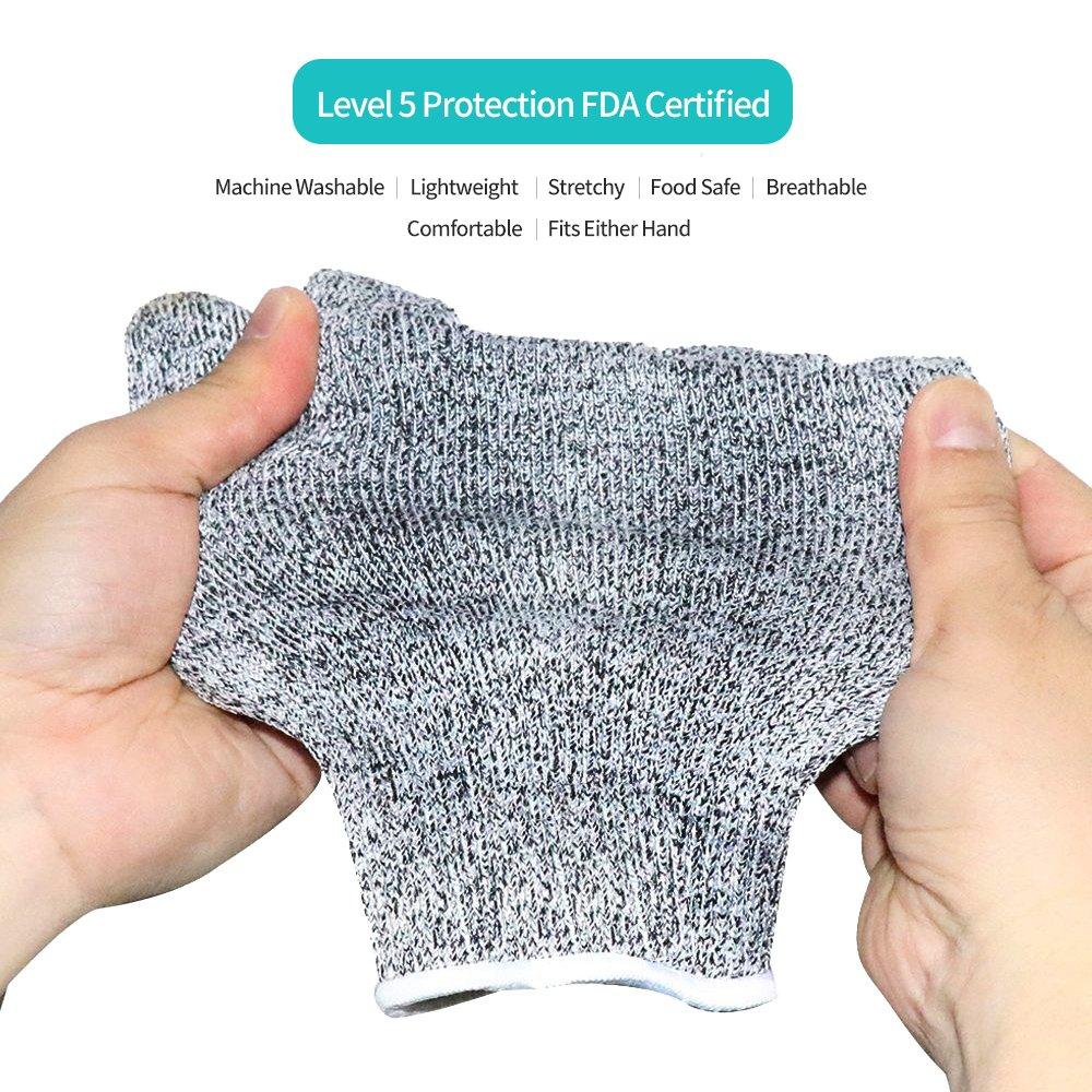 Amazon.com: Cut Resistant Gloves,Cuts Gloves, Food Grade Level 5 ...