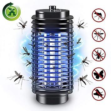 Elektrischer Insektenvernichter, Mückenfalle UV Insektenvernichter  Mückenlampe Schutz vor Elektrischem SchlagTragbare Insektenlampe gegen  Mücken, ...
