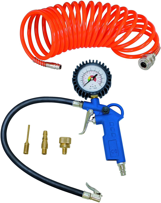 7906100725 Divisor//Conectores Rapidos de Aire de 4 v/ías Azul//Plata Scheppach 1/Pieza