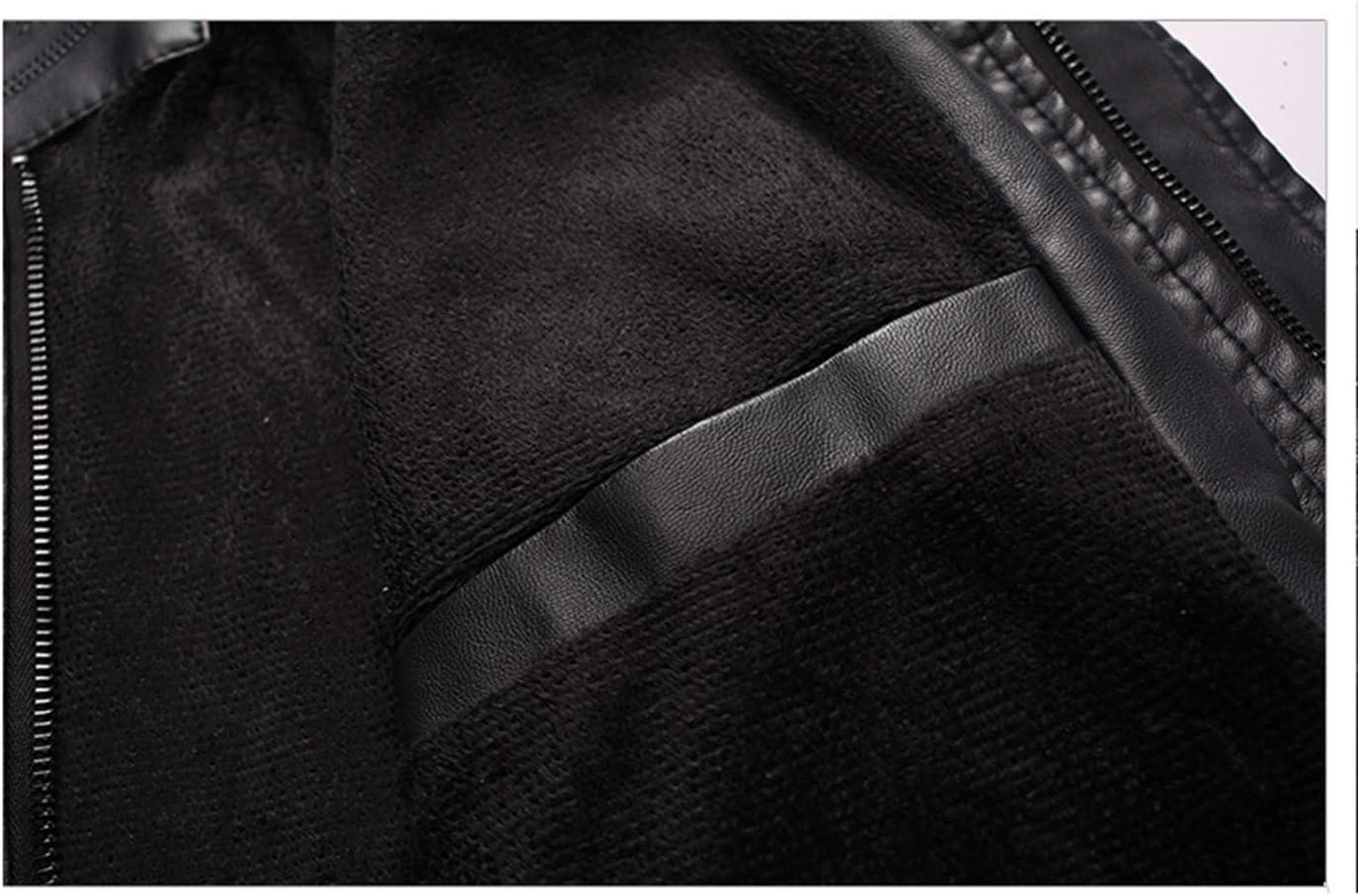 N/P Veste en Cuir Chaude pour Hommes Uniforme de Baseball pour Hommes avec Broderie lavée Protection Contre Le Froid Automne-Hiver D