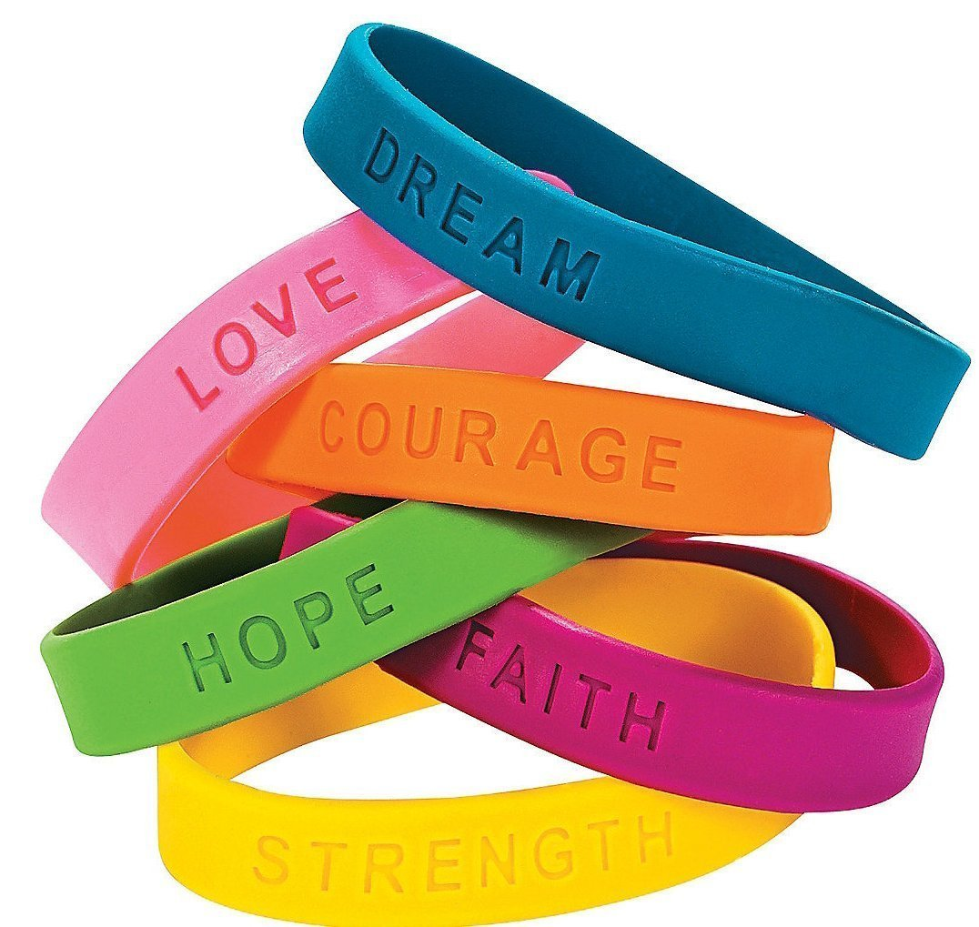 24 Inspirational Sayings Bracelets (Assorted Colors) Oasis Supply FX IN-24/1653