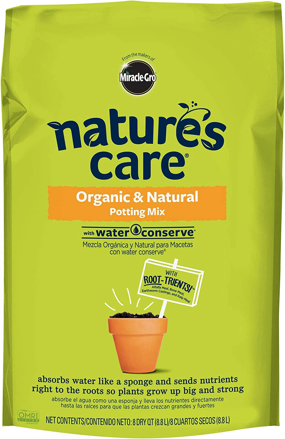 Nature's Care Organic & Natural Potting Mix with Water Conserve, 8 oz.