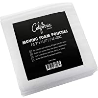 """Premium Foam Packing Sheets (60 Count, 7 3/8 x 7 1/2"""") Cushion Foam Wrap Sheets, Moving Supplies for Dishes,Glasses&Furniture, Packing Cushioning Supplies, Soft & Durable for Ultimate Protection"""