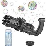 HUALEDI Gatling Bubble Machine 2021 for Toddlers,Cool Automatic Gatling Bubble Maker Gun,Novelty Electric Bubble Blower Gatli