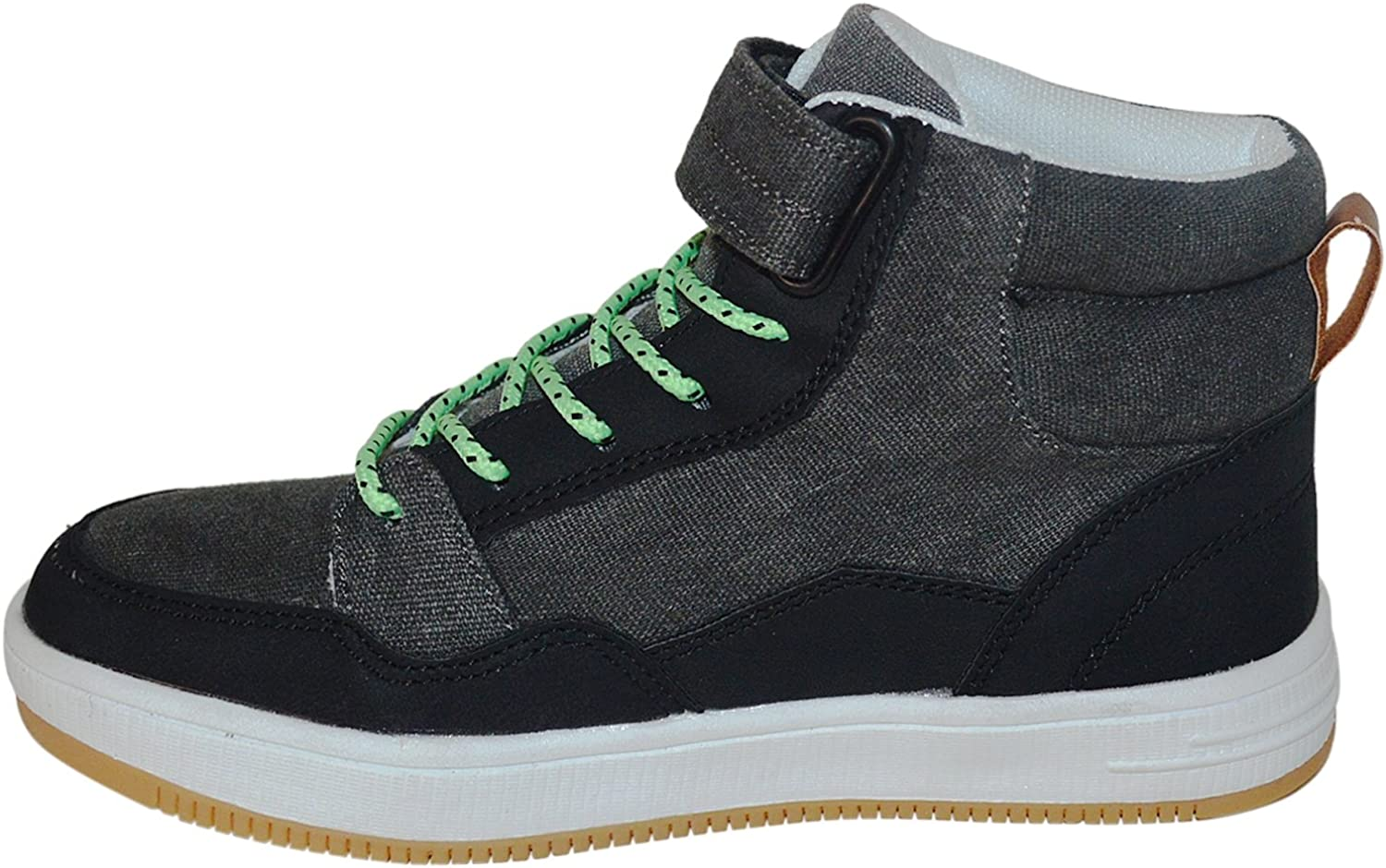 BUM Equipment Kids Stylish Contrast Lace and High Top Bum Shoes Black