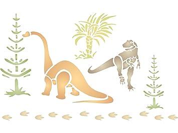 Dinosaurier Schablone U2013 (Größe 33 X 21,5 Cm) Wiederverwendbar Wand  Schablonen Für