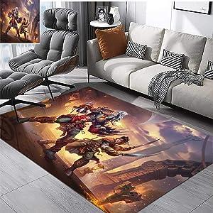 Children's Bedroom Carpet zandalari Troll vs kul tiran Soft Fluffy W4.8 x L6.7 FT