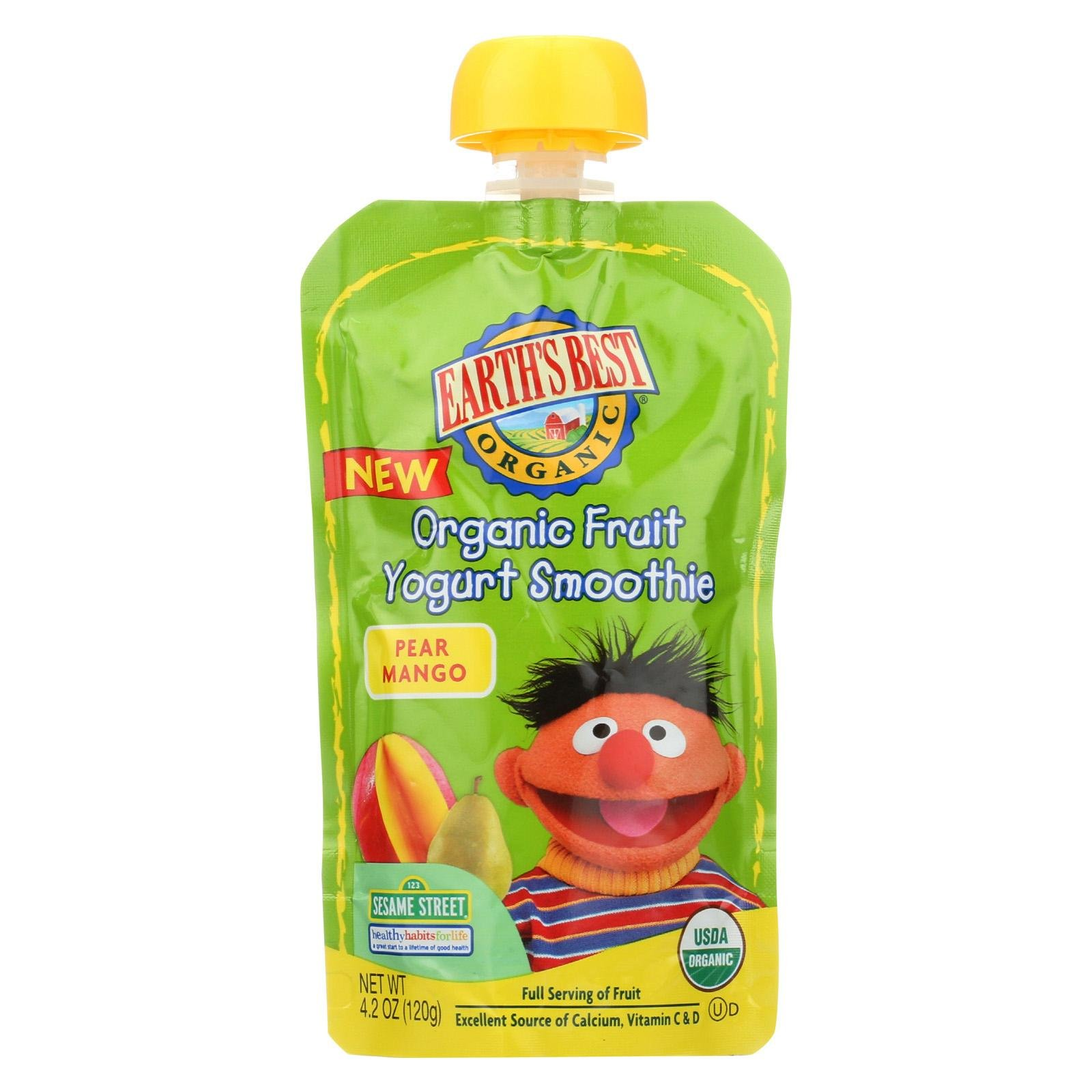 Earth's Best Fruit Yogurt Smoothie, Pear Mango, 4.22 oz