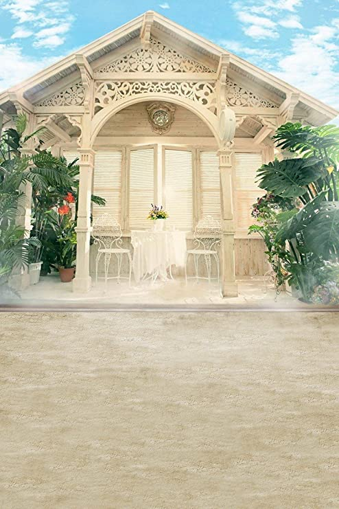 A.Monamour Casa Jardín Piso Exterior Edificio Boda Mural Vinilo Tela Estudio Fotografía Telones De Fondo Fondos Fondos: Amazon.es: Electrónica