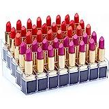 Benbilry Lipstick Holder, 40 Space Acrylic Lipstick Holder Organizer Case Display Rack,40 Slots (in a 8 x 5 Arrangement) Stand Cosmetic Makeup Organizer Lipstick, Brushes, Bottles More …