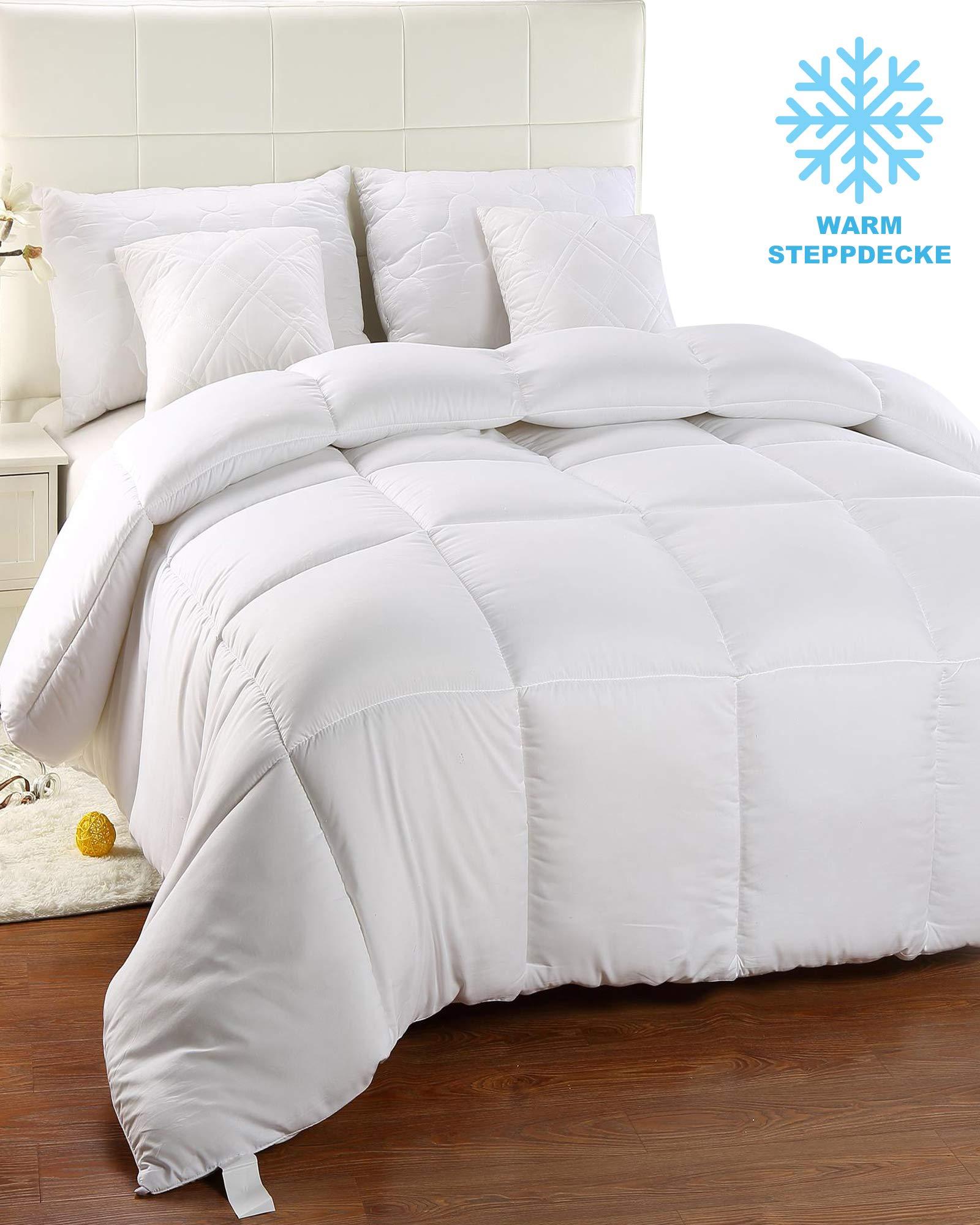 Utopia bedding- Invierno Edredón de fibra, fibra hueca siliconada, 1200 gramo - Blanco