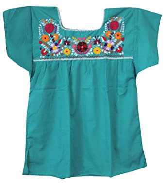 3118e35e1366a Image Unavailable. Image not available for. Color  Liliana Cruz Embroidered  Mexican Peasant Blouse ...