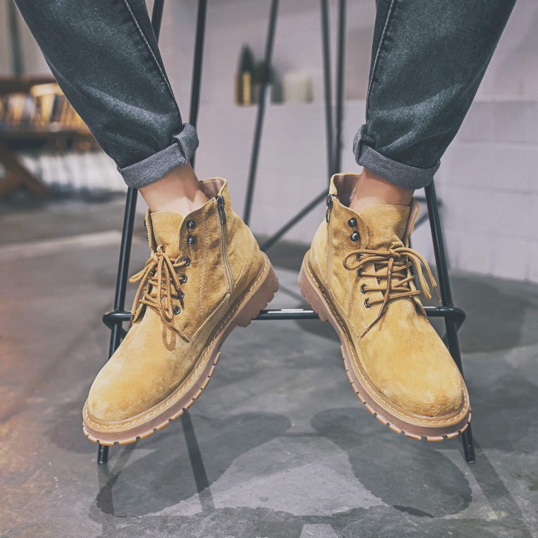 LOVDRAM Stiefel Männer Frühling Und Herbst Martin Stiefel Herren Reißverschluss Hoch Zu Helfen Martin Schuhe Persönlichkeit Casual Hilfe Tooling Warme Männer Schuhe Stiefel