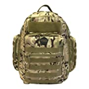 HSD Diaper Bag Backpack + Changing Pad, Insulated Pockets, Stroller Straps for The Tactical Dad (Multicam)