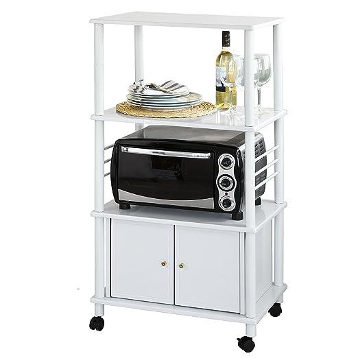 SoBuy® FRG12-W - Carrito de cocina con ruedas de madera, carrito ...