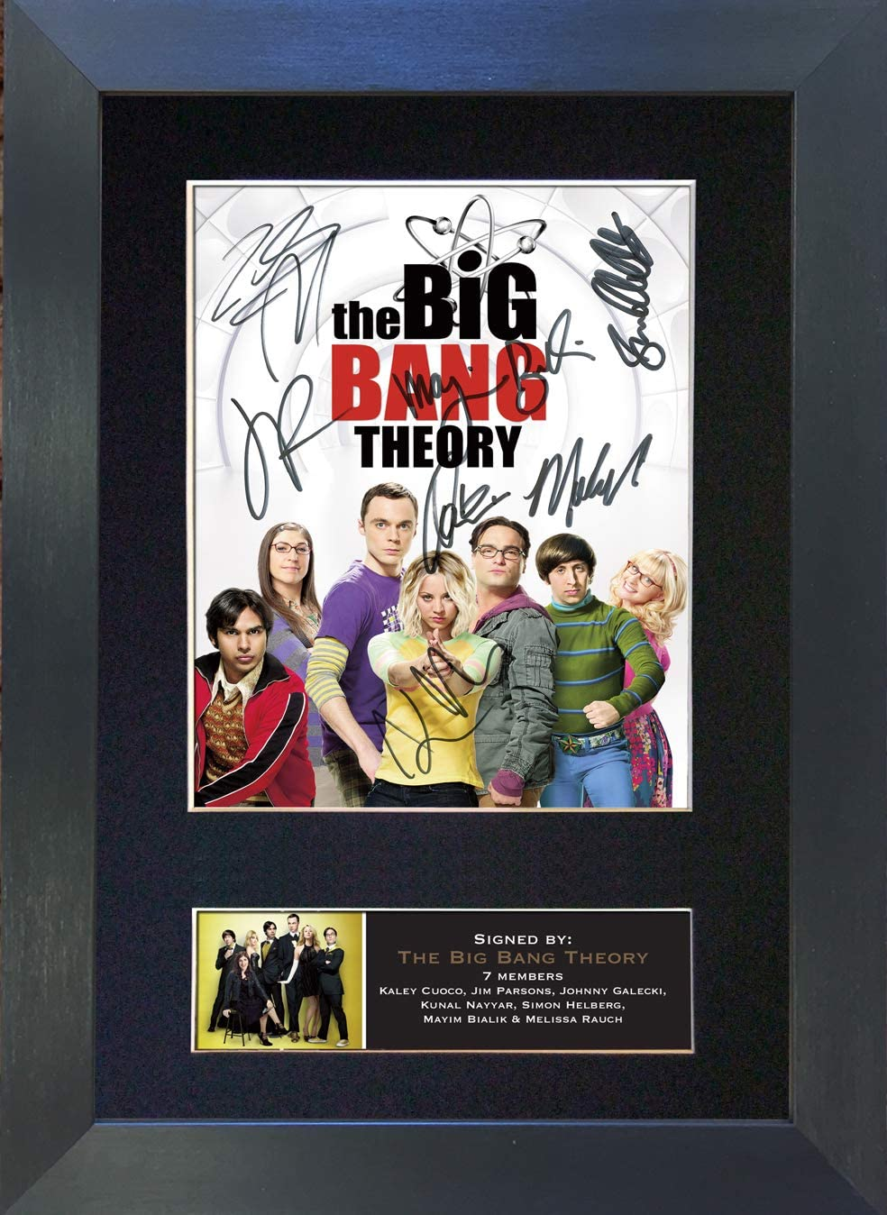 Fotografía firmada con autógrafo de The Big Bang Theory No2, tamaño A4, RARA Perfect Birthday (297 x 210 mm), No Enmarcado, 30,48 x 20,32 cm: Amazon.es: Hogar