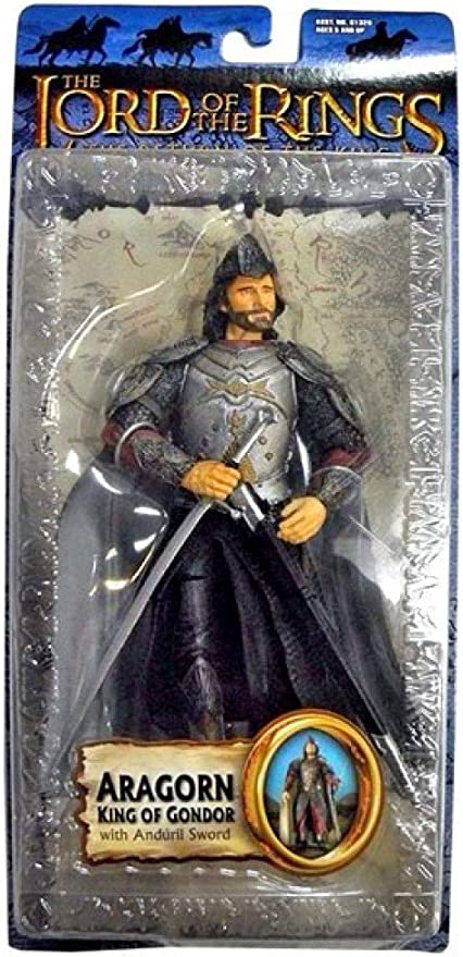 Lord of the Rings Return of the King~ ARAGORN WITH SWORD SLASHING ACTION  NEW
