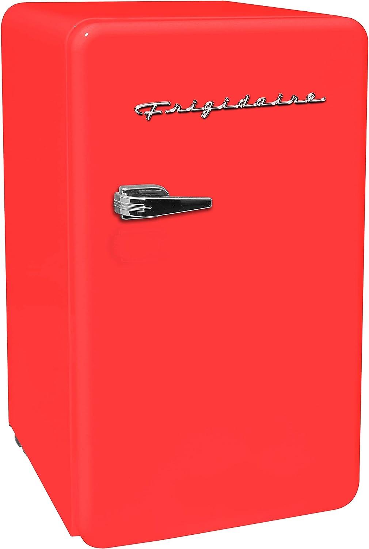 FRIGIDAIRE EFR372-RED 3.2 Cu Ft Red Retro Compact Rounded Corner Premium Mini Fridge