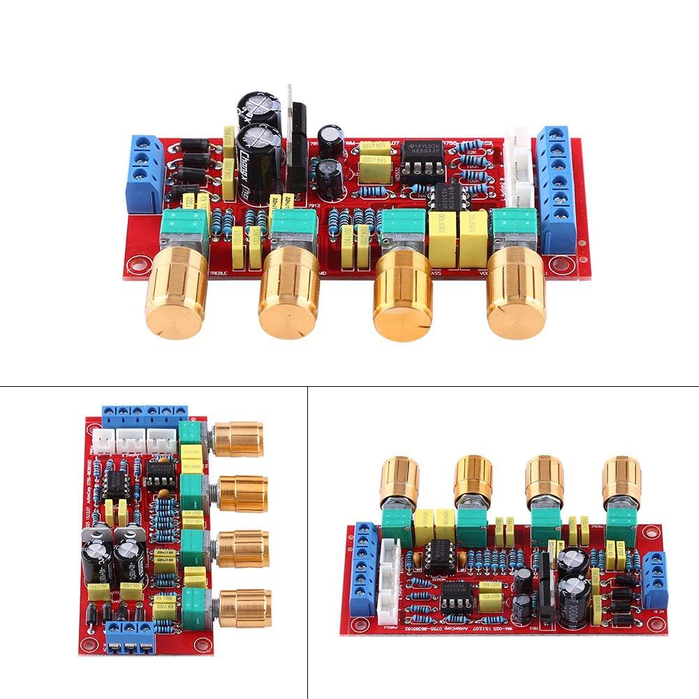 Conseil amplificateur OP-AMP HIFI NE5532 Pr/éampli Electronic Board Tone Volume Set de contr/ôle Outil bricolage