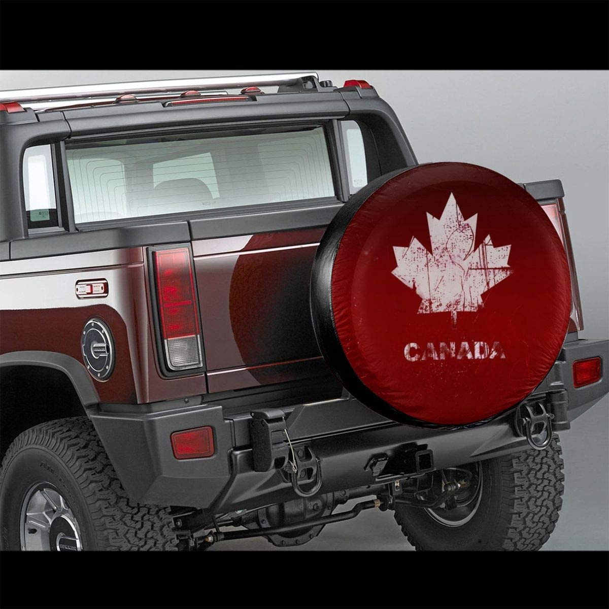 Vbnbvn Reserveradabdeckung Great Canada Flag Polyester Universal Dust-Proof Sunscreen Wheel Covers for Jeep Trailer RV SUV Truck Camper Travel Trailer Accessories 14,15,16,17 Inch