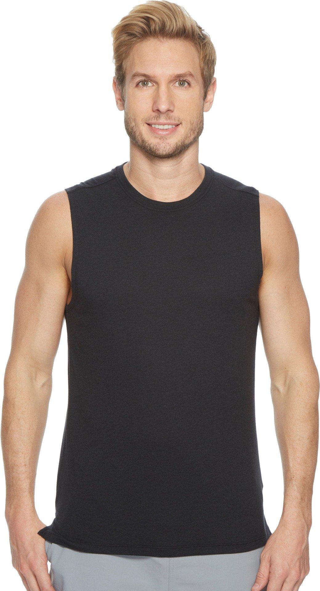 ASICS Men' Muscle Tank, Performance Black, Large