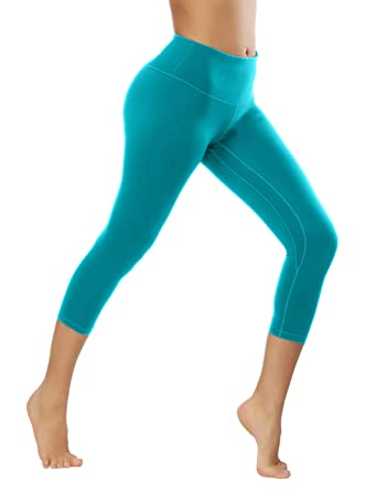 422ef5795e49a Amazon.com: Fengbay Capris Leggings, Capris Yoga Pants Tummy Control Workout  Running 4 Way Stretch High Waist Capris Workout Leggings: Clothing
