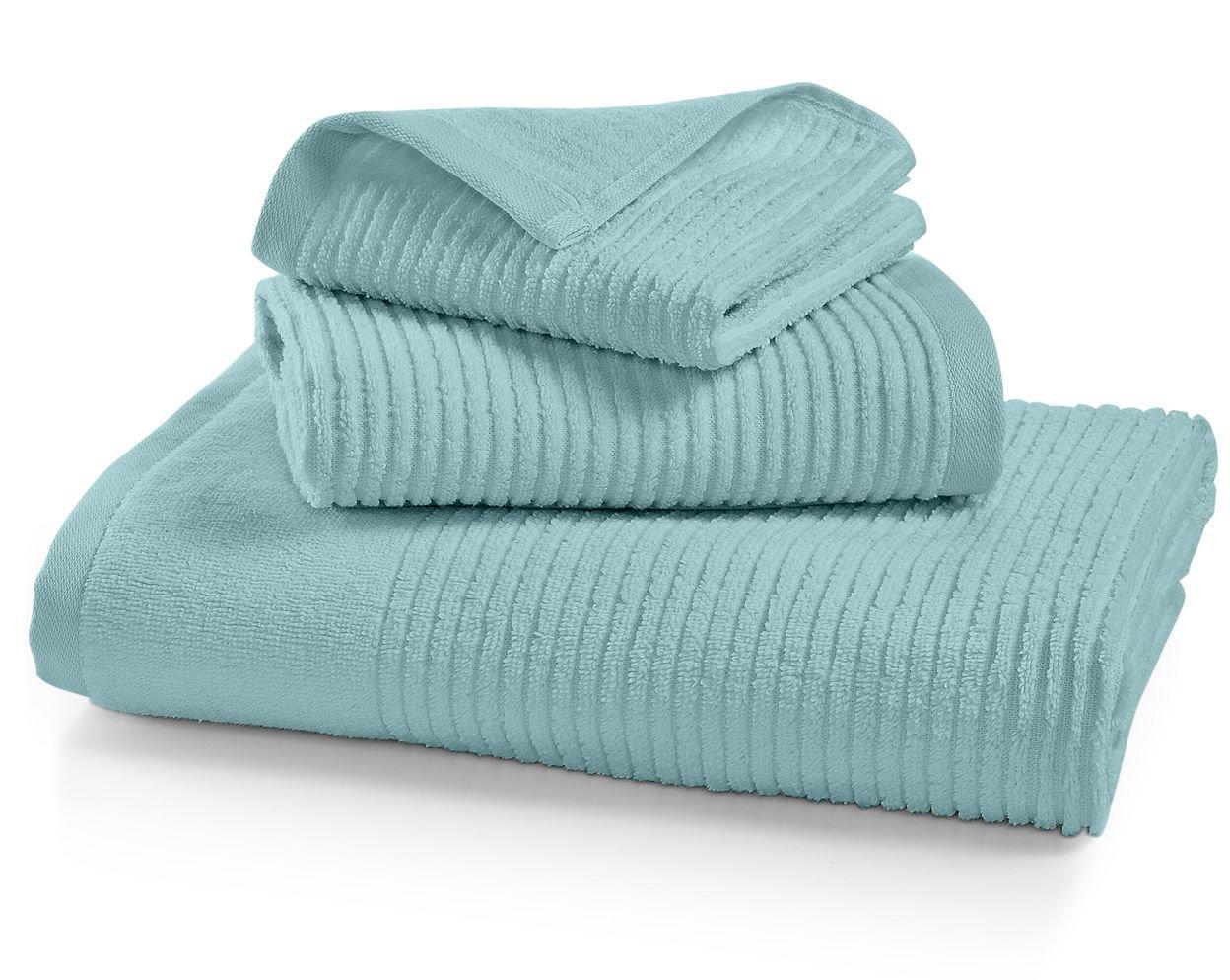 . Martha Stewart Collection Quick Dry Reversible Bath Towel  Aqua Glass