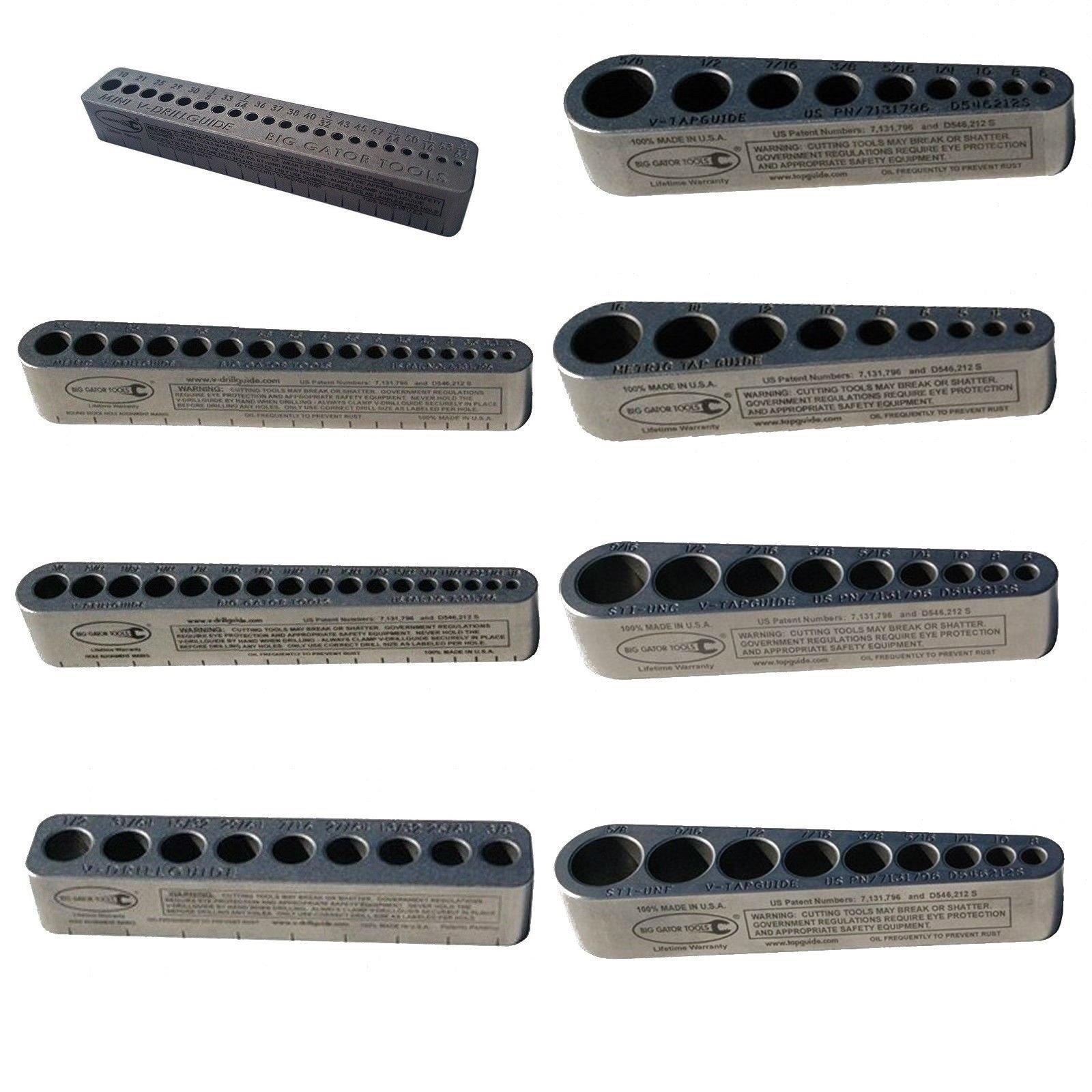APT/Big Gator Tools V-8 Pack V-Tap + V-Drill Guides - Complete Tool Set of 8 Guides