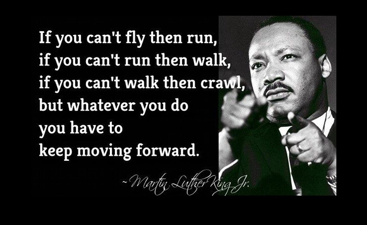 Amazoncom 12 X 18 Xl Poster Martin Luther King Quote You Cant Fly