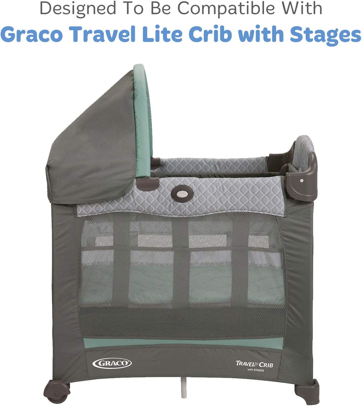 """2 Pack Travel Lite Crib Sheets Compatible with Graco Travel Lite Crib with Stages Fits Perfectly on 20/"""" x 30/"""" Mattress Without Bunching Up Stripe Snuggly Soft Jersey Cotton /Grey Sheep"""